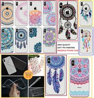 For iPhone X cell phone cases ultra thin TPU Henna White Flo...