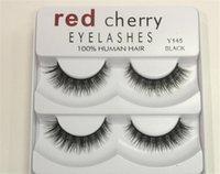 جديد الأحمر الكرز الرموش كاذبة 5 أزواج / حزمة 8 أنماط طويلة ماكياج المهنية الطبيعية عيون كبيرة جودة عالية