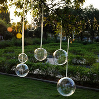 Bomboniera trasparente trasparente riempibile Candy Box Xmas Ornament Albero regalo favore 5CM / 6CM / 7CM / 8CM