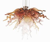 Современное искусство декор цветок стекло люстра спальня декор муранского стекла подвесные светильники ручной работы выдувного стекла Декоративные светодиодные люстры