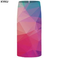 KYKU Graphic Skirts Women Colorful Party Skirt Harajuku Hip Cool Sexy Ladies Skirts Womens Korean Casual 2018 New High Quality