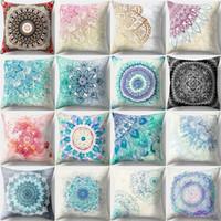 Copertura lussuosa del cuscino della copertura della decorazione della casa della stampa del fiore della pelle di moda del fiore copertura del cuscino di tiro 45 * 45CM