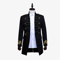 Homens trespassado Inglaterra estilo longo Slim Fit Blazer Design Noivo Wedding Suit Jacket Mens Estágio Wear Costume Cantor
