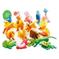 3D Assemblé En Bois Puzzle Enfant Bricolage Cartoon Animal Puzzle Enfants Intelligence Développement Jouet