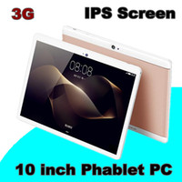 DHL OEM 2018 Tablet PC de 10 pulgadas MTK6582 Quad Core Android 6.0 tableta 1 GB 16 GB 5mp IPS pantalla 800 * 1280 GPS tabletas de teléfono 3G E-9.6PB