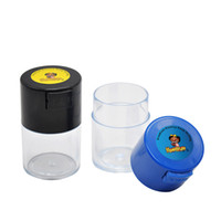 Prim Akrilik Hava geçirmez Çok Kullanımlık Vakum Mühür Taşınabilir Stash Kavanoz Depolama Konteyner 60ML Kuru Kahve, Tütün Ve Otlar Saklama Kutusu