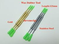 Accessori per sigaretta elettronica di cera DABBER Strumento contenitori Strumenti pulita Ego in acciaio inox in acciaio inox metallo oro 121mm DAB HARB HERB