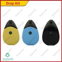 Auténtico Suorin Drop Starter Kits 2ml Incorporado 310mAh Batería con indicador LED Sin botón de diseño Original ecig e cigs vapes