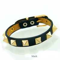 Dazzling Stainless Steel Leather Wrap Bracelet with multi co...