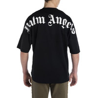 Palm Angels Palm Angel Fashion Simple English Letter LOGO Print Round Neck Hombres y Mujeres Short Sleeve T-Shirt