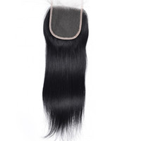 Top Grade Human Hair Lace Closure 4x4 straight Brazilian Per...