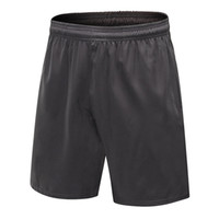 Männer Quick Dry Gym Shorts Mode Sommer Herren Zip Pocket Shorts Lauf Casual Solid Plus Größe Elastische Taille kurze Hosen