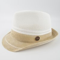EPU- MH1849 Knitted Combo Color Brim Sun Natrual Style Hat Un...