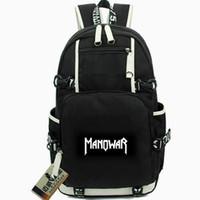 Manowar Rocksack Ross مدرب على ظهره الجحيم على خشبة المرحلة روك باند المدرسية الموسيقى حقيبة كمبيوتر daypack الرياضة مدرسة حقيبة خارج الباب حزمة