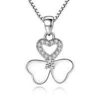 Клевер Ожерелье для женщин мода ювелирные изделия женские женские аксессуары белое золото покрытием CZ Алмаз ювелирные изделия