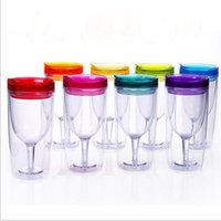 Creative 10oz Double- wall Acrylic Red Wine Tumbler Glasses C...