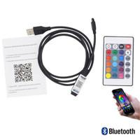 بلوتوث LED تحكم USB DC 5V 6A RGB LED قطاع الخفيفة IR 24 مفاتيح مصغرة الموسيقى تحكم الصوت اللاسلكية الروبوت التطبيق IOS