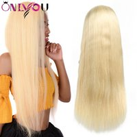Brazilian Straight Remy Virgin Hair Wigs 613 Full lace Human...