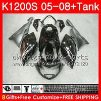 Corpo para OEML K1200 S K 1200 S 05 10 K1200S 05 06 07 08 09 10 103HM.2 K-1200S K 1200S 2005 2006 2007 2008 2009 2010 2010 Glossy Black Kit