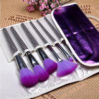 Moda Makyaj Fırça 16 adet Set Mor Fırça Makyaj Seti Göz Farı Parmak Eyeliner Dudak Fırçası Aracı Kozmetik Çantası Içerir