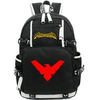Nightwing حقيبة الظهر روبن هيرو يوم حزمة ليلة الجناح فيلم حقيبة مدرسية الترفيه حزمة جوالدس رياضة الرياضة المدرسية في الهواء الطلق daypack