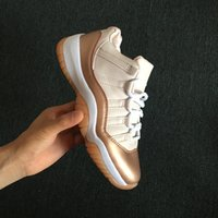 Wholesale 11 LOW rose gold women basketball shoes XI sports ...