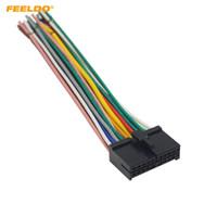 Unidad de la cabeza del coche del mercado de accesorios universal FEELDO 20Pin DVD Enchufe del cable del arnés de cableado # 2326