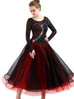 Sparkly Rhinestones Balo Salonu Dans Elbise Kadın Modern Waltz Tango Dans Elbiseler Standart Balo Salonu Rekabet Kostüm Adam
