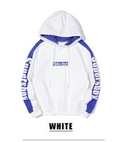 Autumn Winter New Hoodies Mens Fashion Color Contrast Letter...