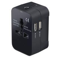 Международная универсальная Все в одном мире путешествий адаптер адаптер зарядное устройство AC Power Plug с Dual USB зарядки портов