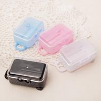 Akrilik Temizle Mini Haddeleme Seyahat Bavul Şeker Kutusu Bebek Duş Düğün Iyilik Parti Masa Dekorasyon Malzemeleri Hediyeler