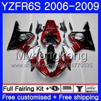 Corpo per YAMAHA nero caldo YZF R6 S R 6S rosso scuro YZF600 YZFR6S 06 07 08 09 231HM.6 YZF-600 YZF R6S YZF-R6S 2006 2007 2009 Kit carenature 2009
