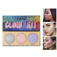 Brand New 3 Colors Rainbow Brighten Base Makeup Glow Kit Pal...