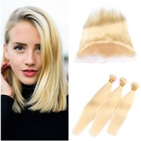 Silky Straight Virgin Indian Blonde Human Hair Wefts 3 Bundl...