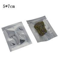 5 * 7cm Mini Open Top sacchetto di imballaggio sotto vuoto in polvere Trasparente sacchetto di alluminio in plastica 500 pezzi / lotto Calore pacchetto di cibo essiccato sigillabile Capsula pillola