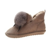 Shoes Women Flat Winter Autumn Ankle Snow Boots Female Fur B...
