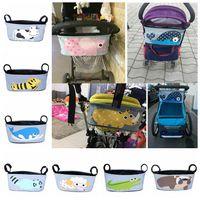 عربة طفل حقيبة حفاضات المنظم الأمومة حقيبة مومياء الطفل ماء قابلة للطي أكياس الحفاض مع سعة كبيرة DDA482