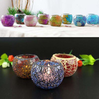 Crystal Mosaic Glass Candle Holder Candlestick Centerpieces ...