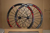 كامل الكربون العجلات 38mm الفاصلة الأبيض صائق الفاصلة ماتي الانتهاء من عجلات دراجة الكربون، 38 ملليمتر عجلة مجموعة أنبوبي