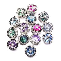 Mixed Styles Noosa Chunks Snap Button Jewelry Rhinestone Clo...