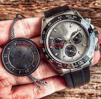 Beste Edition AR FCTORY COSMOGER 116519 116519LN 40mm Gummi Strap Chronograph Swiss ETA 413 Uhrwerk Automatische mechanische Herrenuhren