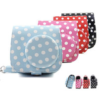 Classic PU Leather Polka Dot Camera Case Bag For Polaroid FU...