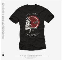 Avrupa ve Amerikan Sokak Retro Tshirt Hip-Hop Kaya Lokomotif 3D Kafatası Baskı T-shirt Erkekler ve Kadınlar Kısa Kollu Gömlek