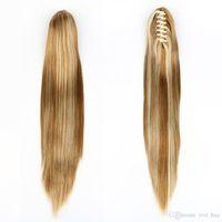 """XT030 21 """"cabelo reto rabo de cavalo garra sintética peruca 5 cor vermelho marrom preto cabelo loiro cor"""