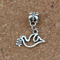 100 stücke Antike Silber Frieden Taube Oliven Charms Anhänger Für Schmuckherstellung Armband Halskette DIY Zubehör 19x24mm A-259
