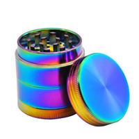 Rainbow Dazzle Color 4 Layer Metallo erba in lega di zinco in lega di tabacco Grinder 40mm frantoio con catcher polline