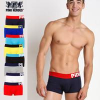 1258 Venta al por mayor PINKHERO Mens Underwear Cotton Boxer Shorts Vendedor M L XL XXL Envío Gratis orden de la mezcla