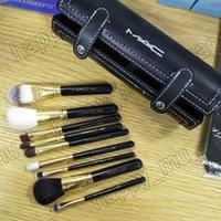 9 шт. Makeup Щетки набор комплект набор для путешествий красоты профессиональный лесной ручкой фундамент губы косметика макияж кисть с держателем чашки