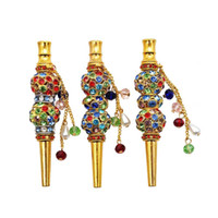 Fashion Handmade Inlaid Jewelry Diamond Alloy Hookah Mouth T...