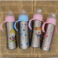 12oz 240ml kids stainless steel tumbler Infant Bottle vacume...
